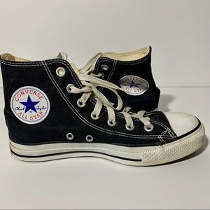 High top converse sneakers black and white size 7